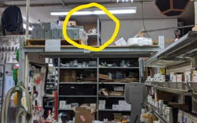 Shop Cat no longer catches mice but does oversee shop Security and Safety!